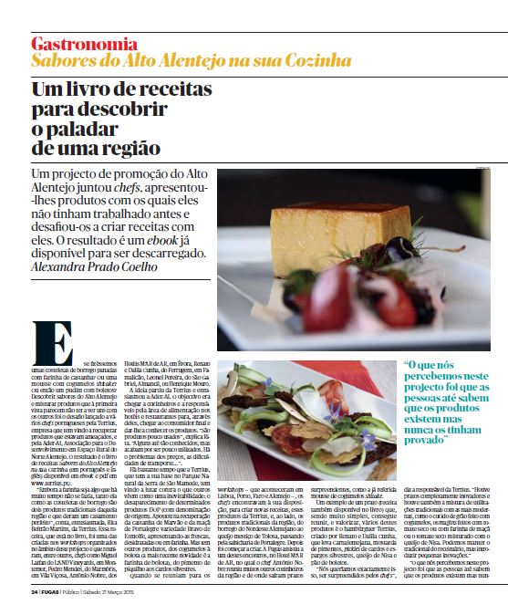 TerriuS at the PUBLICO newspaper's FUGAS magazine
